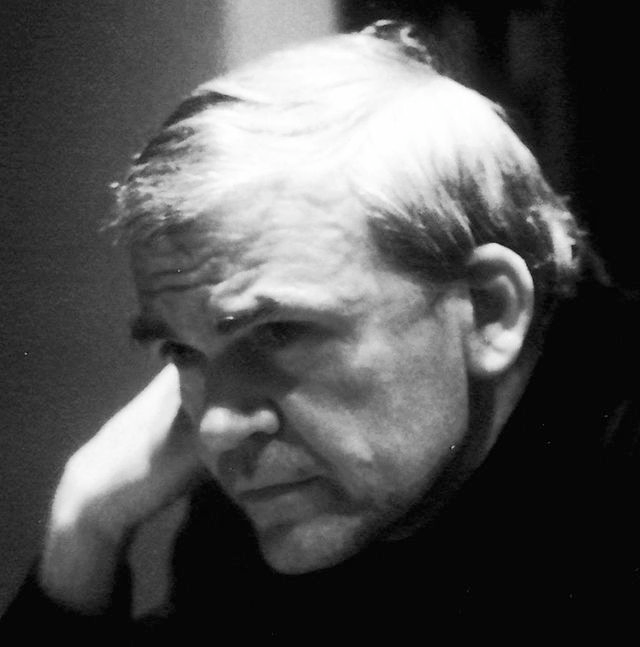 Milan Kundera (via  Wikipedia )