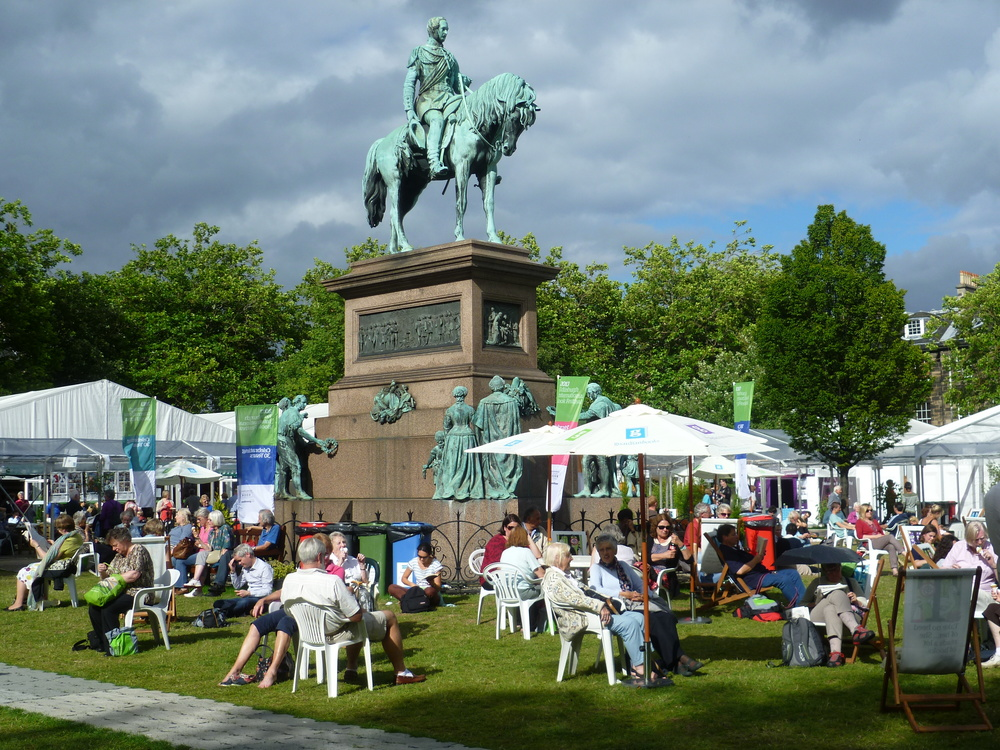 The Edinburgh International Book Festival (via  Wikipedia )