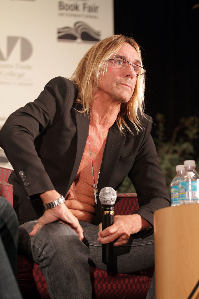 Iggy Pop in questionably appropriate attire for the 2009 Miami Book Fair International (via Flickr)