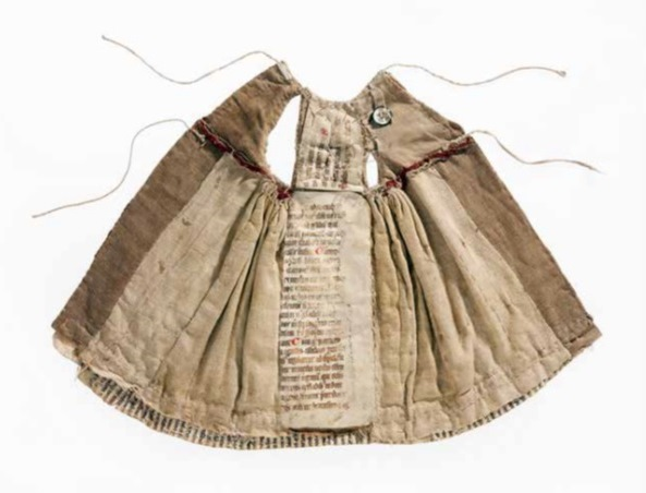 Dress made out of manuscripts (via Bodleian Libraries)