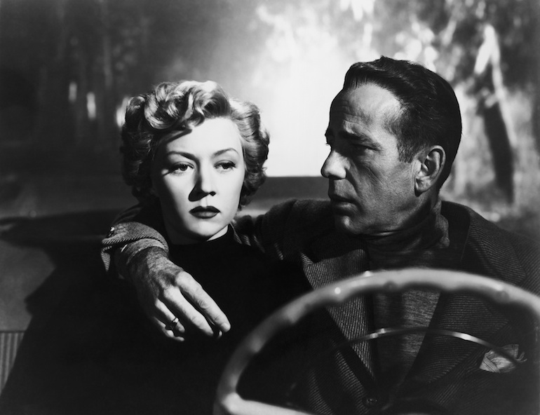Gloria Grahame and Humphrey Bogart in the 1950 film  In a Lonely Place  (via  Dark City Stories )