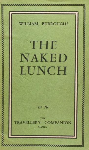 1959 edition of Naked Lunch misprinted as The Naked Lunch (via James Cummins Bookseller)