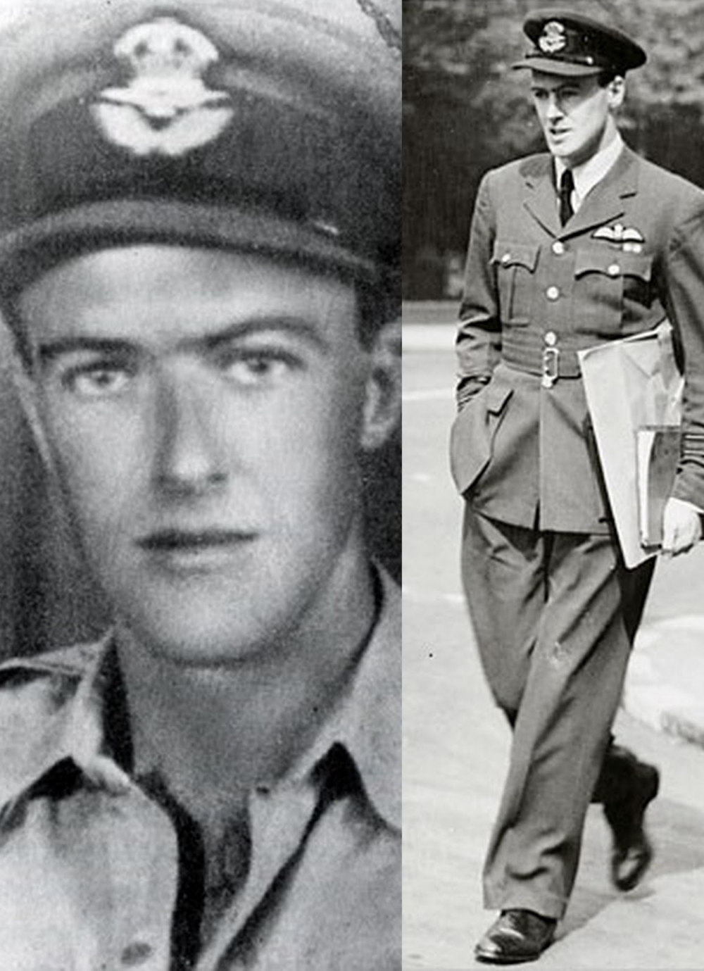 Roald Dahl in uniform (via B for Bell)
