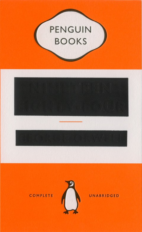 Nineteen Eighty-Four   by George Orwell, cover designed by David Pearson (via    The Casual Optimist   )