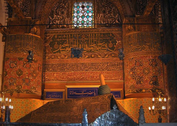 Rumi's mausoleum in Konya, Turkey (via Wikipedia)