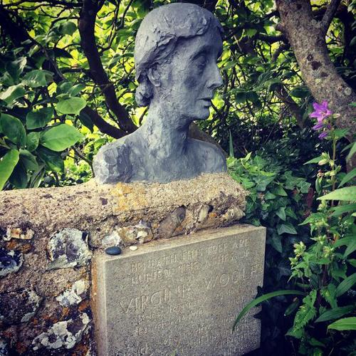 Virginia Woolf's ashes in Sussex (via Twitter)