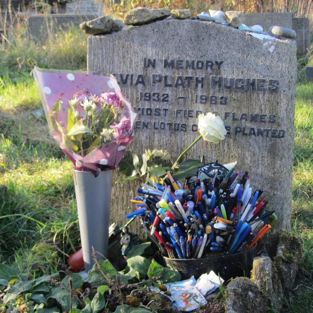 Sylvia Plath's grave in Heptonstall   (via    Sylvia Plath Info Blog   )
