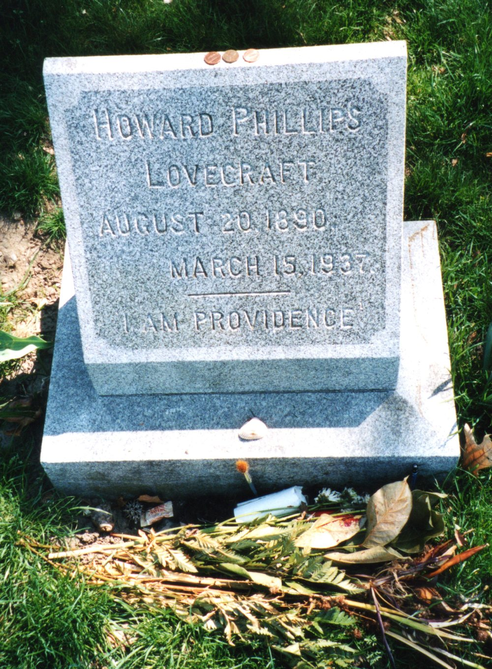 H. P. Lovecraft's grave in Providence (via    Cemetery Travel   )