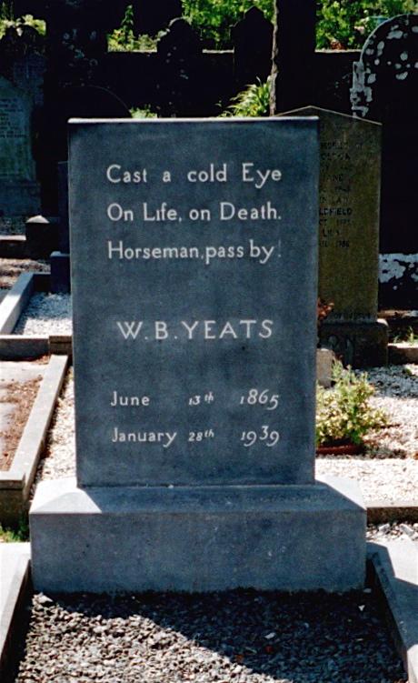 William Butler Yeats's grave in County Sligo (via Wikimedia Commons)