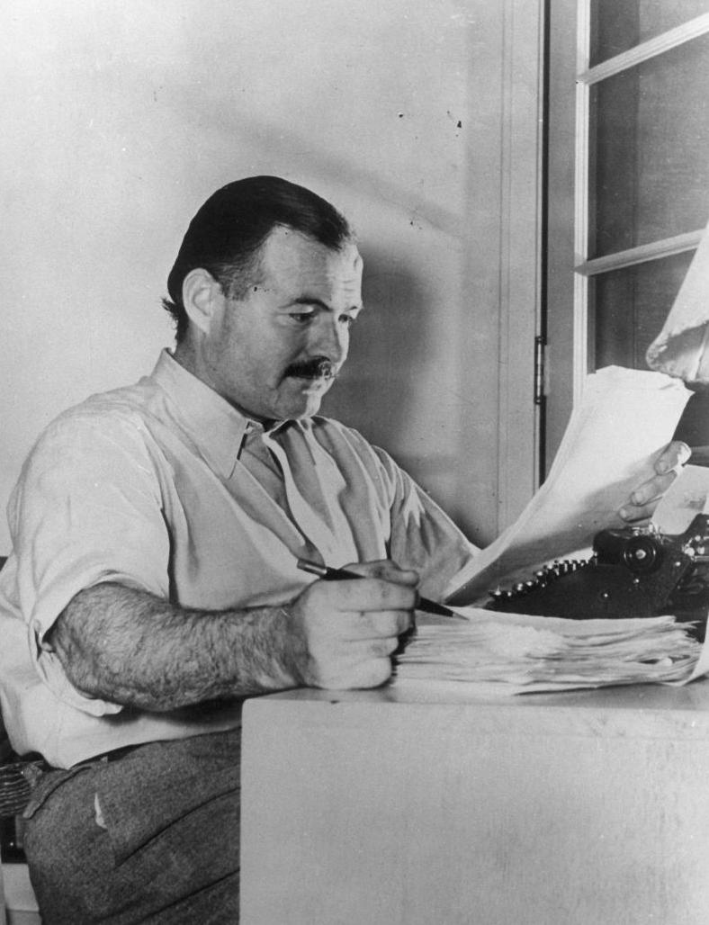 Ernest Hemingway (via Flickr)