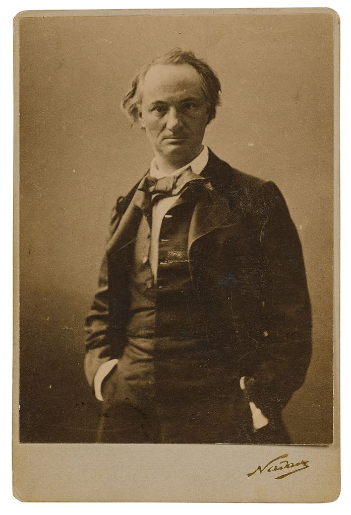 Photograph of Baudelaire (via    Wikimedia Commons   )