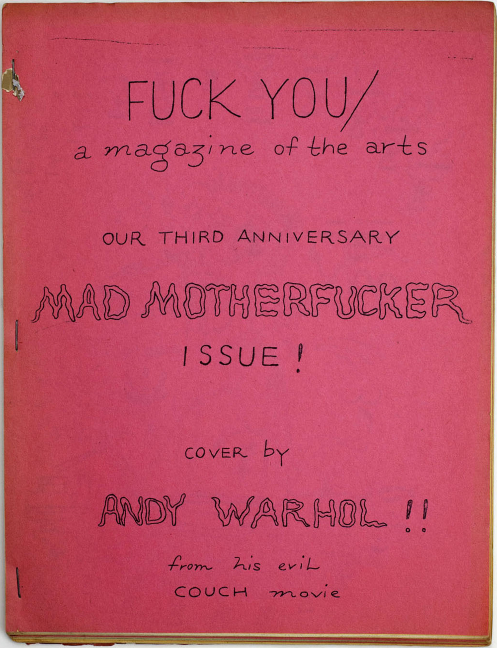 Fuck You (via File Magazine)