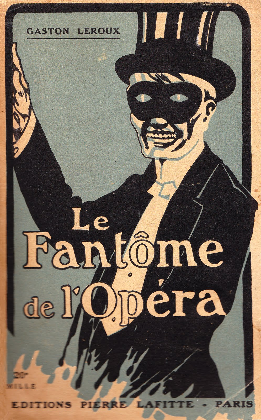 The Phantom of the Opera by Gaston Leroux (via Books and Art)