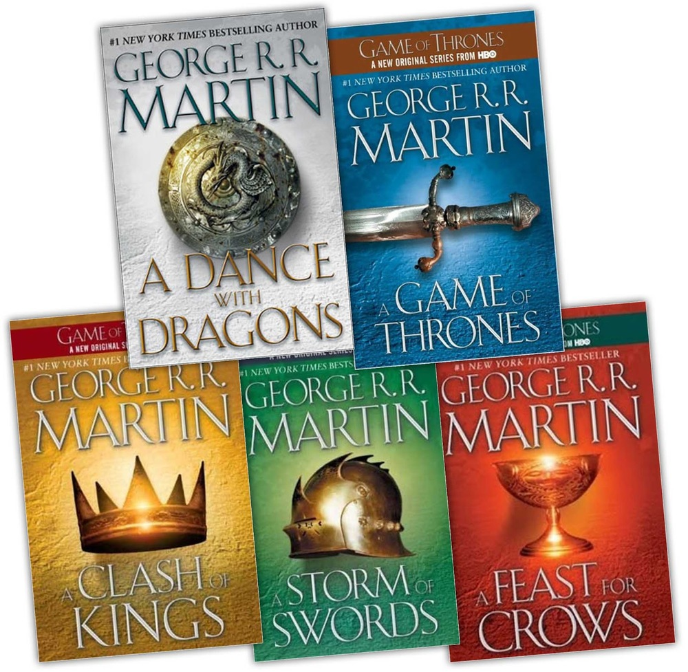 The First Five Books of the A Song of Ice and Fire Series by George R. R. Martin (via Geek Ireland)