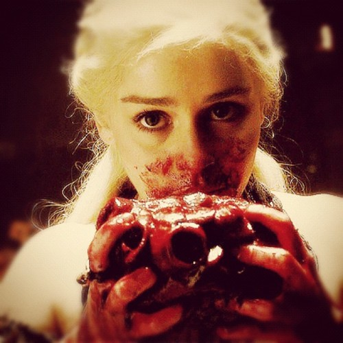 Daenerys on Game of Thrones (via SG)