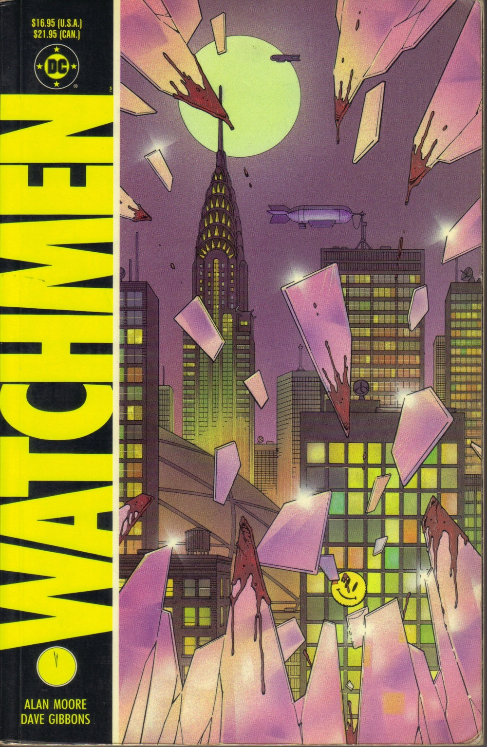 Cover of the first issue of Watchmen by Alan Moore and Dave Gibbons (via Open Letters Monthly)