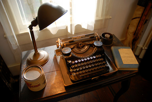 Faulkner's typewriter (via Flickr)