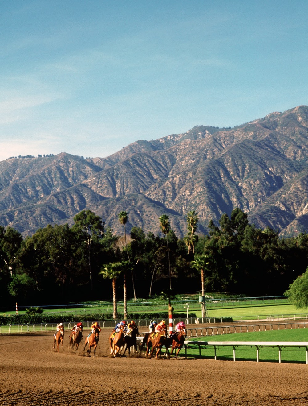 Santa Anita Racetracks (via    Cal Racing   )