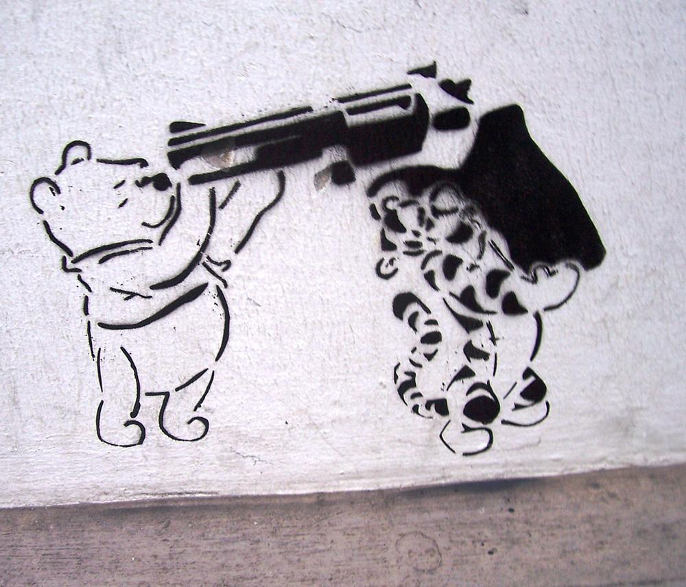 Winnie-the-Pooh graffiti (via Flickr)