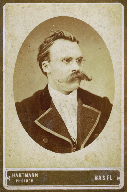 Friedrich Nietzsche, 1872 (via Wikimedia Commons)