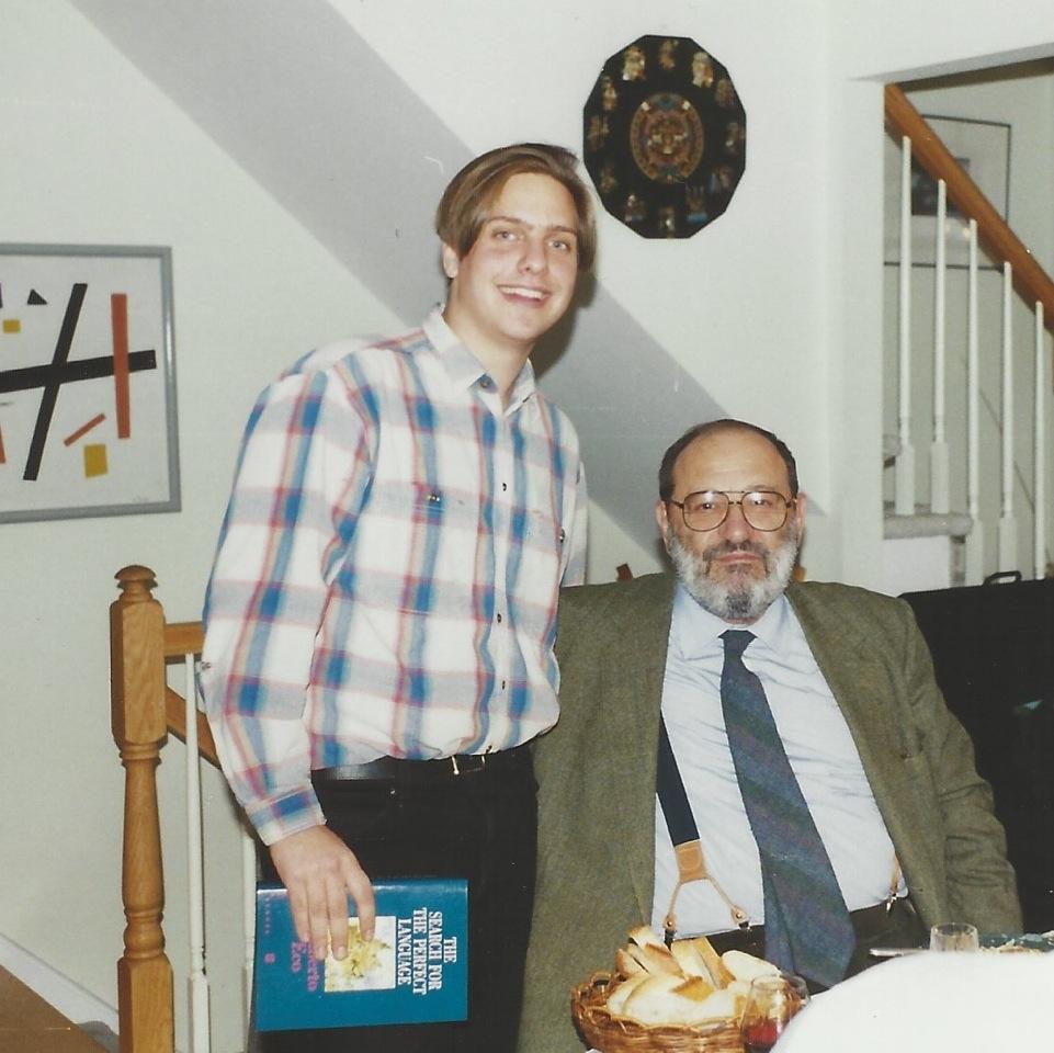 Daniel Genis and Umberto Eco, 1998 (All images via author)