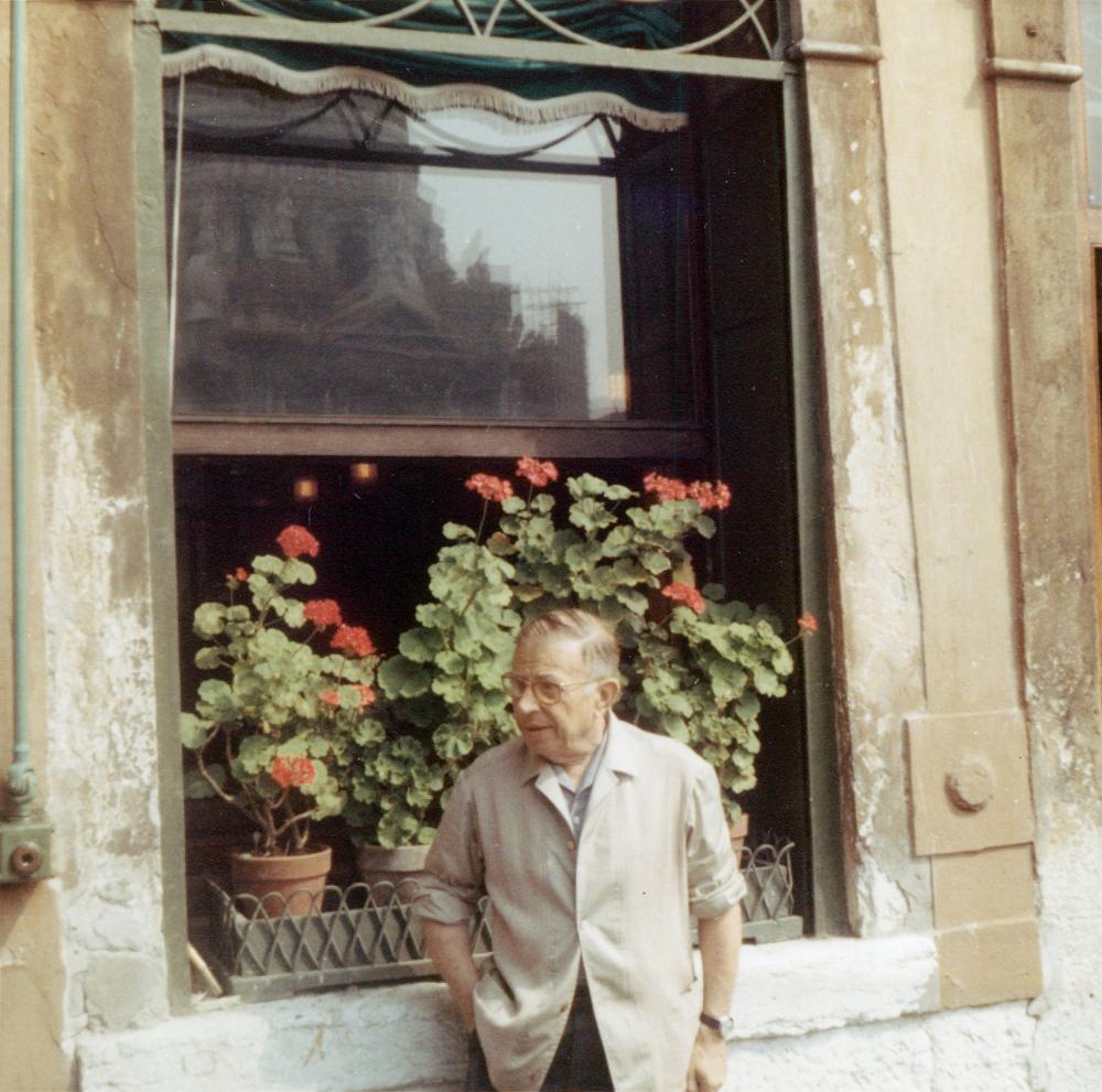 Jean-Paul Sartre in Venice, 1967 (via Wikipedia)