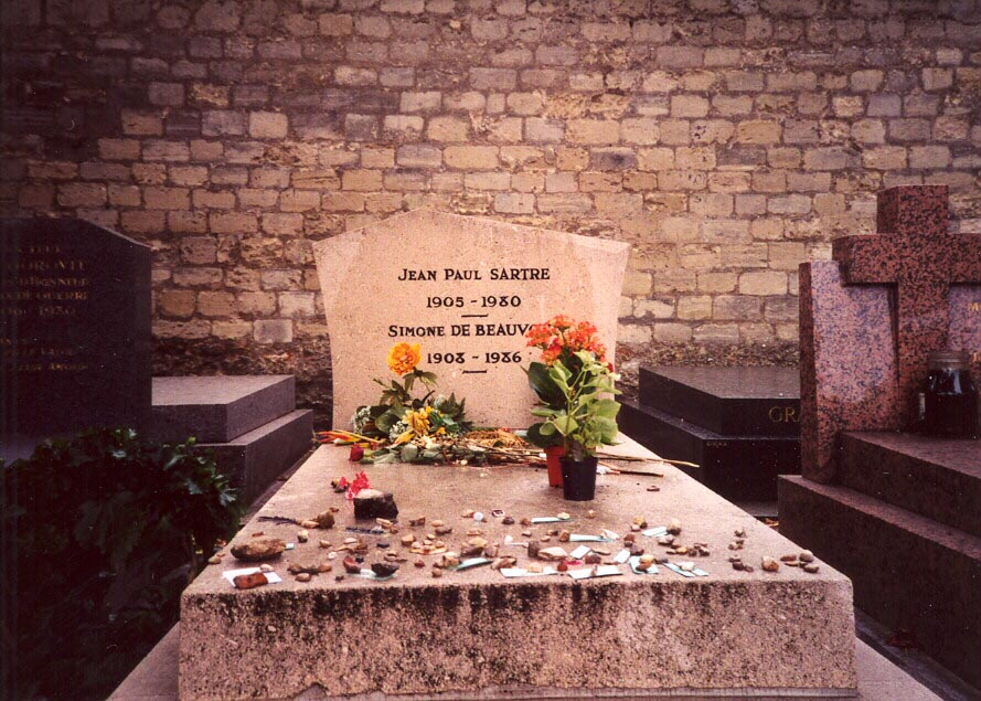 Sartre and his partner Simone de Beauvior's grave in Paris (via Flickr)