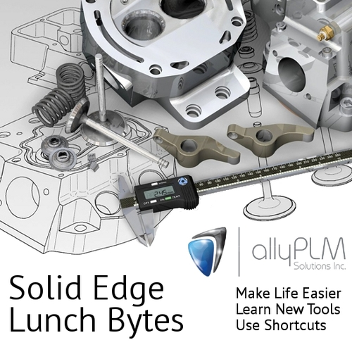 Ally PLM Free Solid Edge Tutorials Lunch Bytes