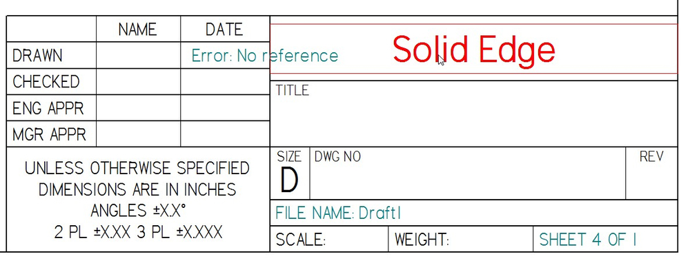 How to Create Custom Drawing Templates in Solid Edge - Ally PLM