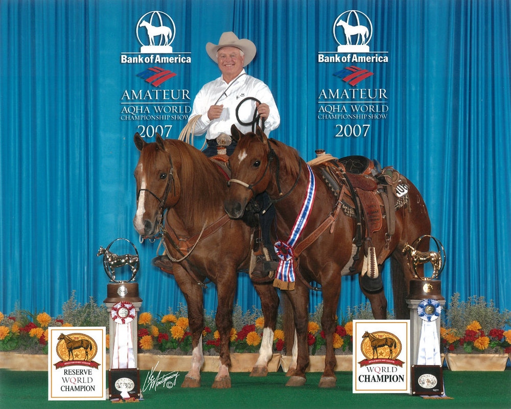 Big Classic Wonder Ridden by Sid Miller and 2-Time World Champion, Big Smokin Wonder