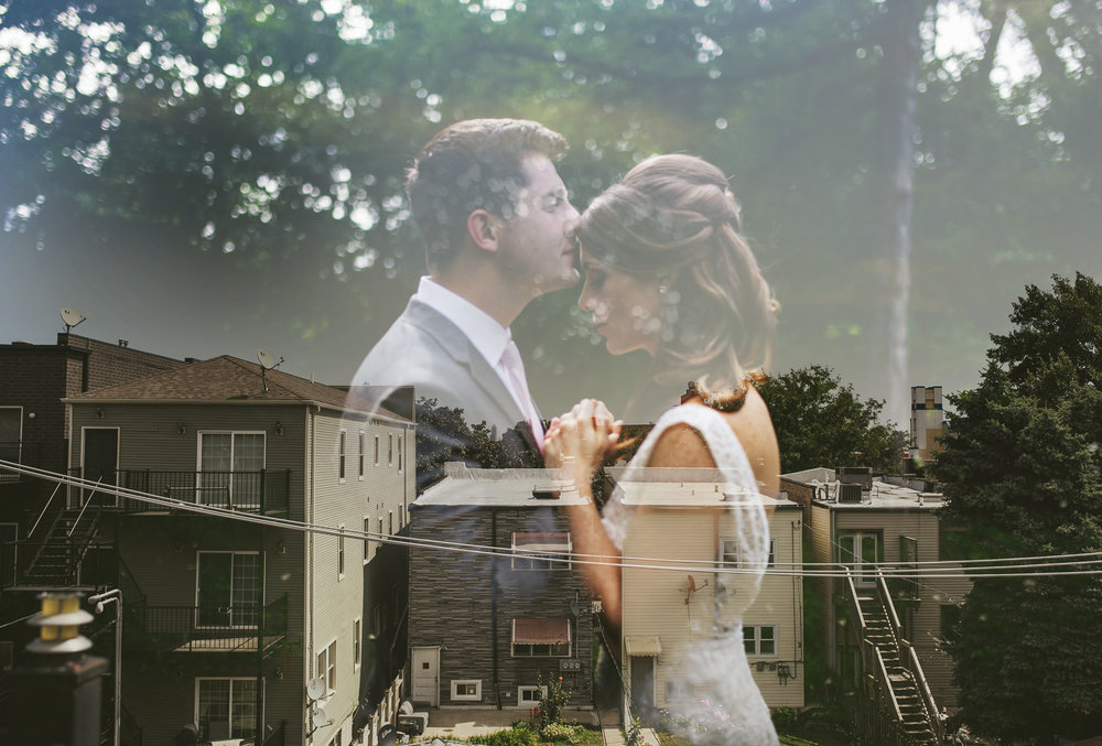 Brandon werth chicago wedding photographer double exposure
