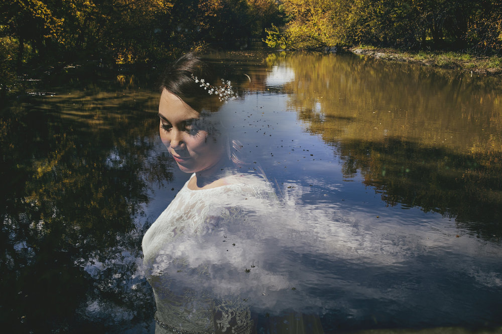 Brandon werth minnesota wedding photographer conceptual creative double exposure