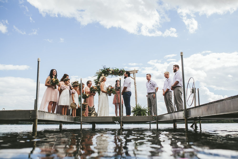 Brandon werth northern minnesota wedding photographer lake ceremony