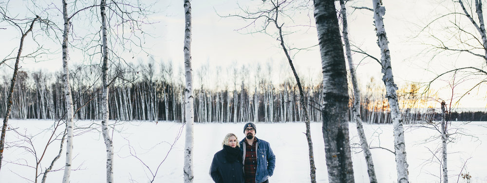 Brandon werth northern minnesota wedding photographer winter engagement session