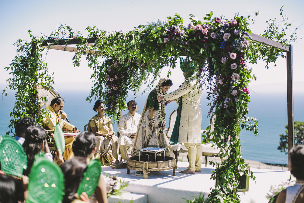 southern california indian wedding ceremony brandon werth rancho palos verdes
