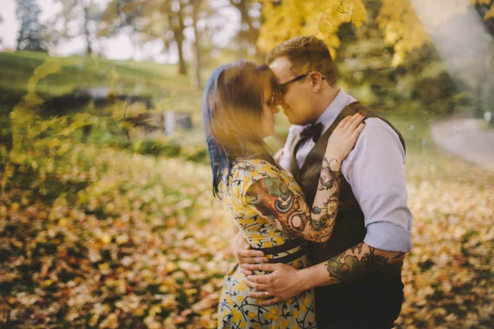 Brandon werth minnesota wedding photographer rock n roll bride punk fall minneapolis