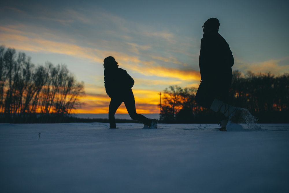 Brandon werth minnesota wedding photographer winter engagement session