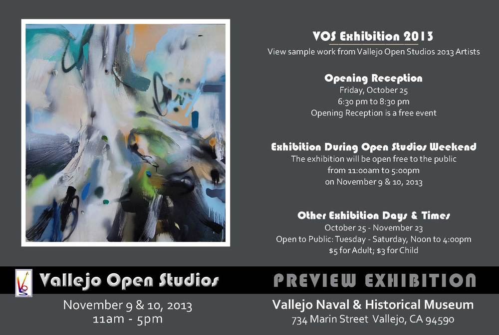 Vallejo Open Studio 2013 Flyer
