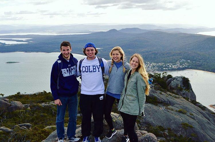 Left-to-right Pax Kaplan-Sherman, Robert Durst (me), Courtney Warren and Hannah Westervelt on top of  Mt. Amos