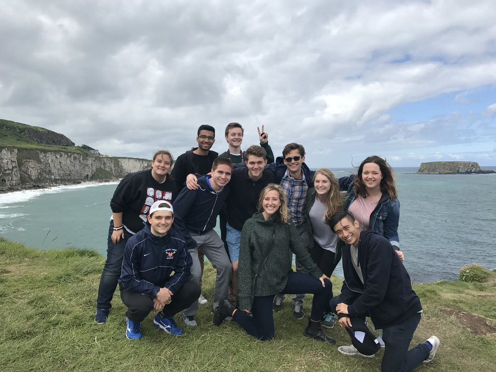 Katie and her cohort enjoying the scenery in Dublin.
