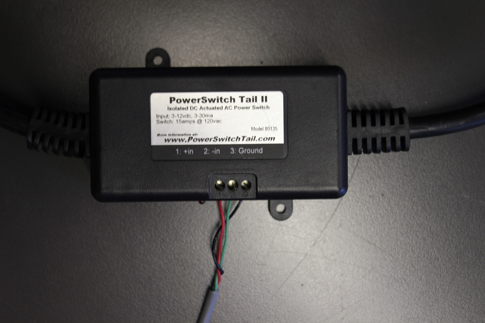 On the PowerSwitch Tail side you will need to connect the wires to the terminal block.