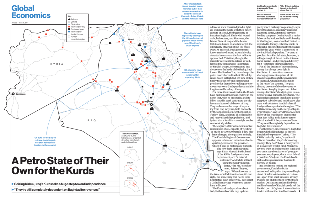This might be outdated by the time anyone sees it, but remember when ISIS steamrolled through northern Iraq?