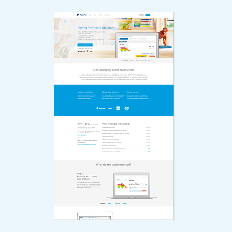 PayPal Business Site Redesign — Amy Patterson
