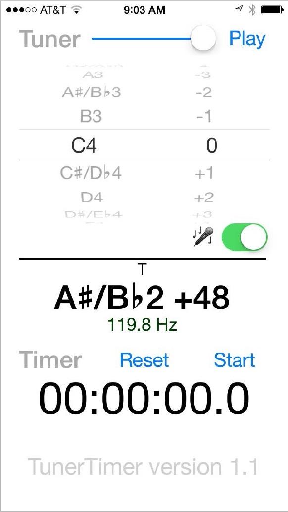 Tuner/Timer App