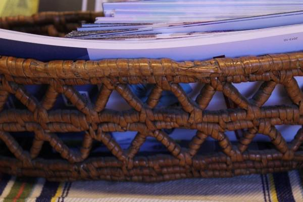 birch root basket detail