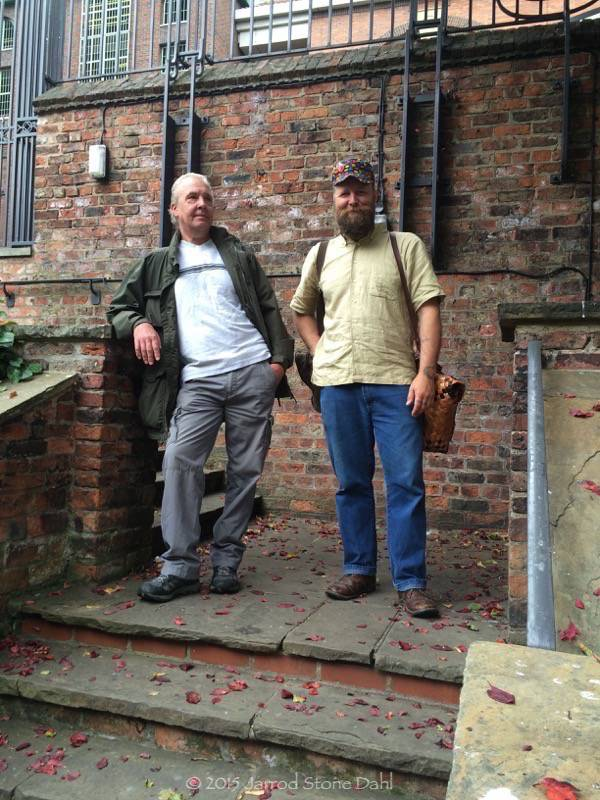 Paul Atkin and I somewhere in York
