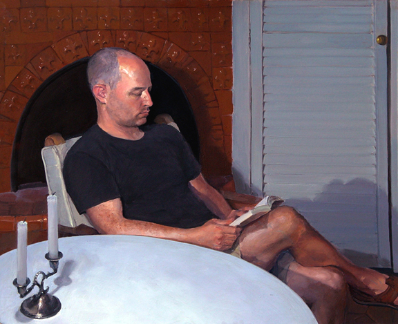 "Robert Reading , 2003, oil on panel, 18""x 21"""