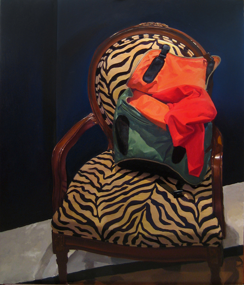Chair with Haversack , 2012, oil on linen