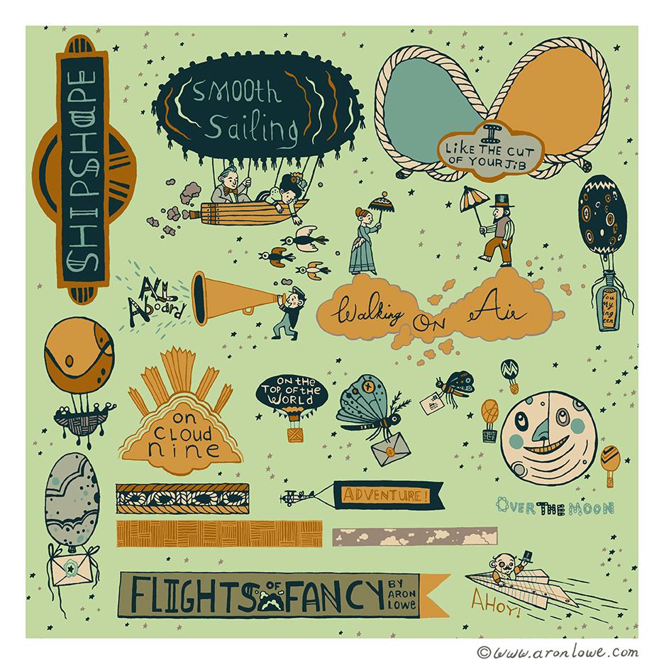 Flights of Fancy Scrapbook Page