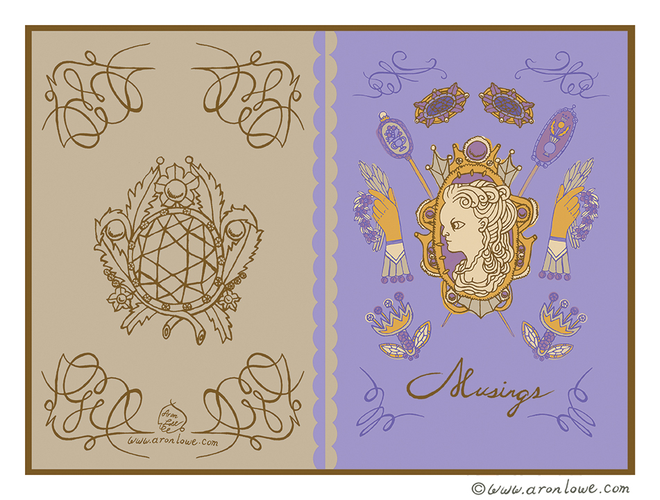 Victorian Brooches Journal Design
